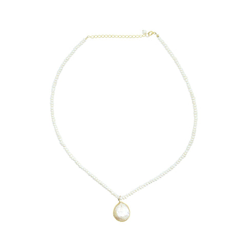 KUNAI FRESHWATER PEARL GOLD FILLED NECKLACE AND PENDANT