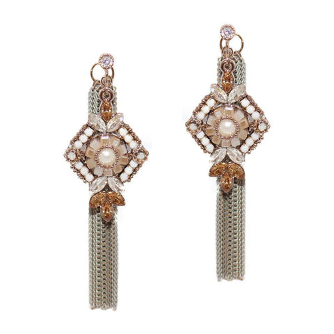 LAEL BRONZE SEMI-PRECIOUS CRYSTAL EARRINGS