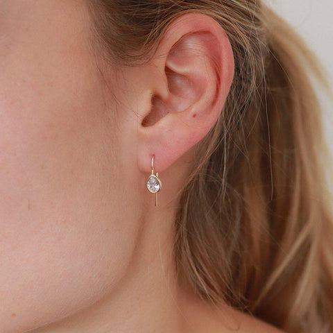LANI TEARDROP CRYSTAL EARRINGS