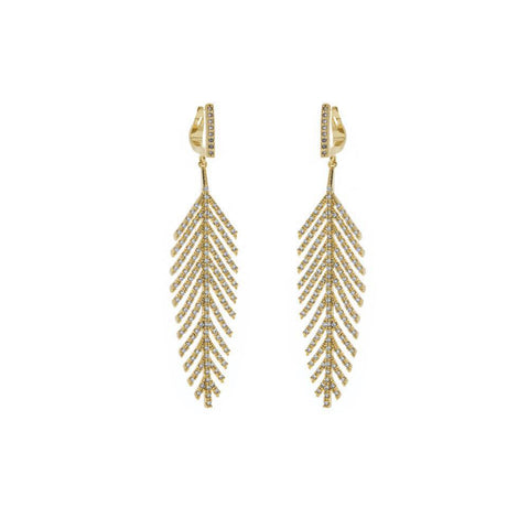 LARISA GOLD CRYSTAL EARRINGS-Earrings-MEZI