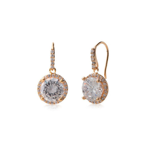 LAURA ROSE GOLD EARRING-Earrings-MEZI