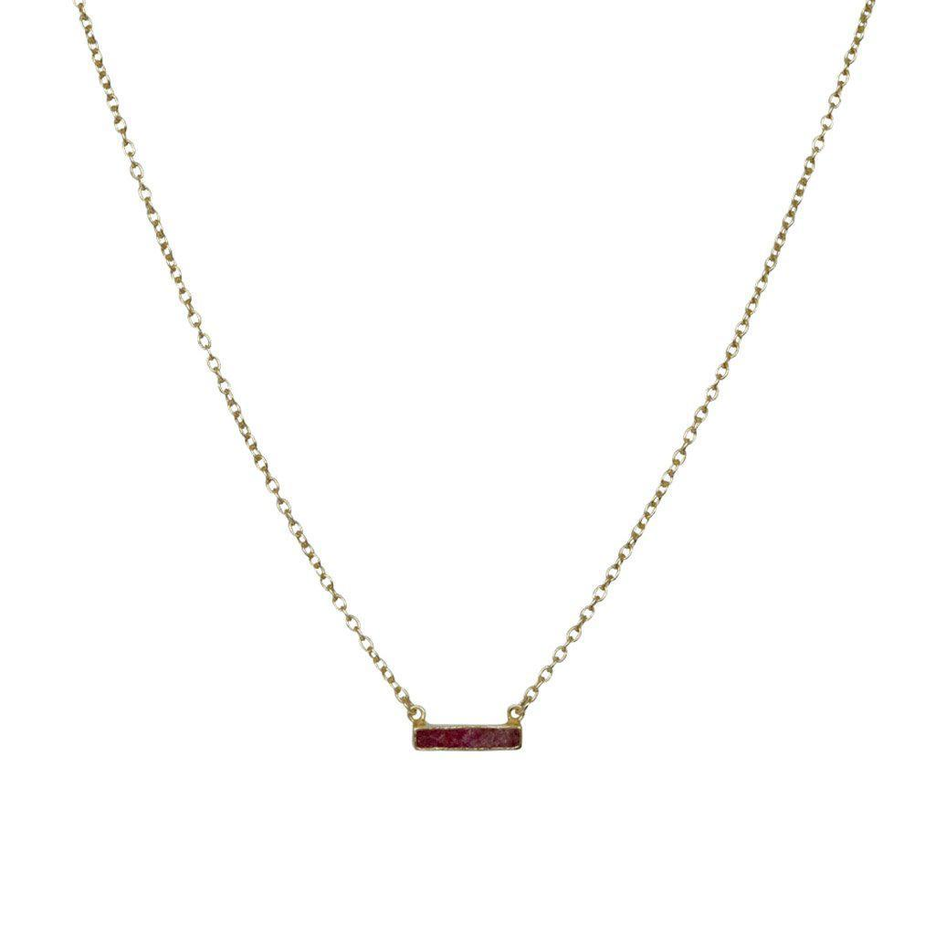 LEA RUBY SEMI PRECIOUS NECKLACE