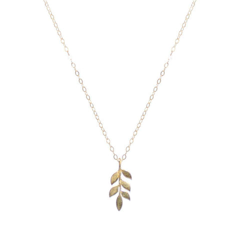 LEAF GOLD FILLED PENDANT-Necklaces-MEZI