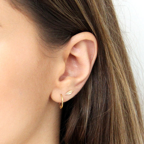 LEAF GOLD FILLED STUDS