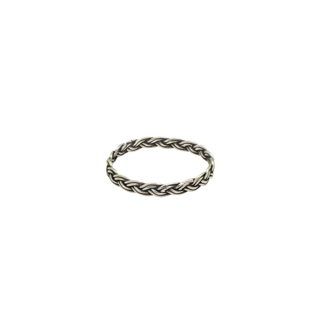 LEAL BRAIDED STERLING SILVER RING