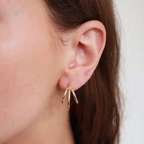 LEDIA GOLD FILLED DOUBLE HOOP EARRINGS