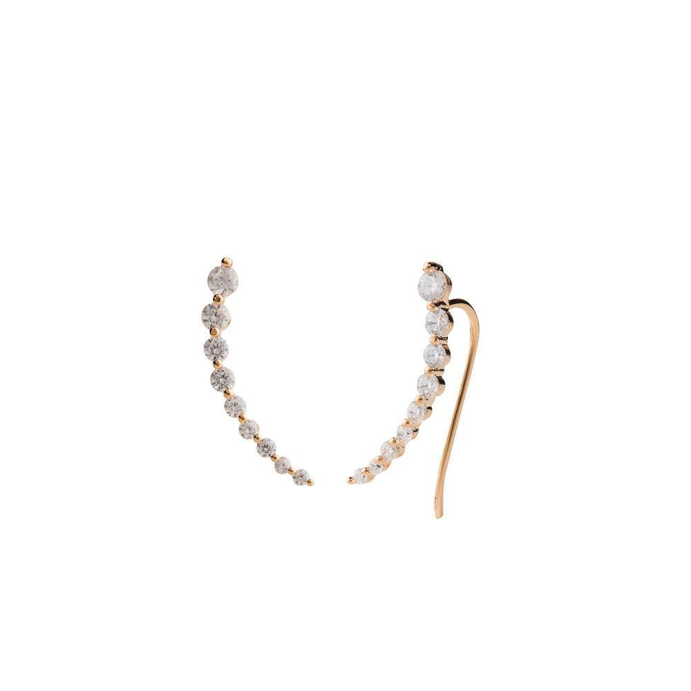 LETICIA ROSE GOLD CRAWLERS-Earrings-MEZI