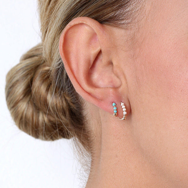 LILY GOLD FILLED SLEEPER EARRING-Earrings-MEZI