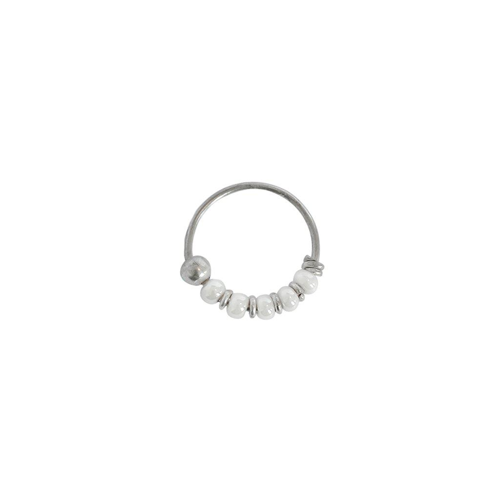 LILY SILVER LARGE SLEEPER EARRING