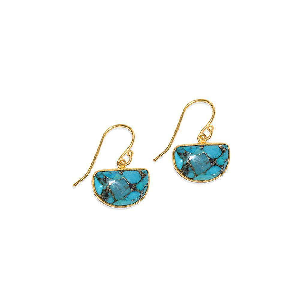LITA DROP TURQUOISE GOLD EARRINGS