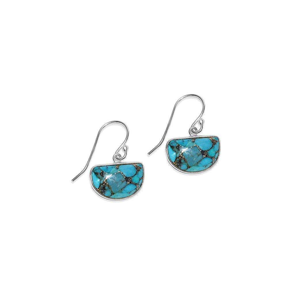 LITA DROP TURQUOISE SILVER EARRINGS