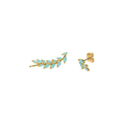 LORENA GOLD & BLUE CRYSTAL CRAWLERS