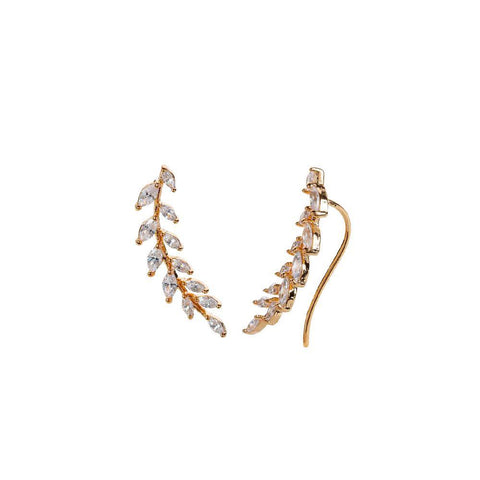 LORENA ROSE GOLD CRYSTAL CRAWLERS