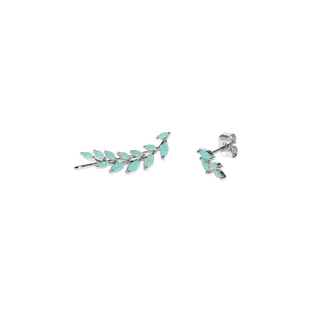 LORENA SILVER & BLUE CRYSTAL CRAWLERS