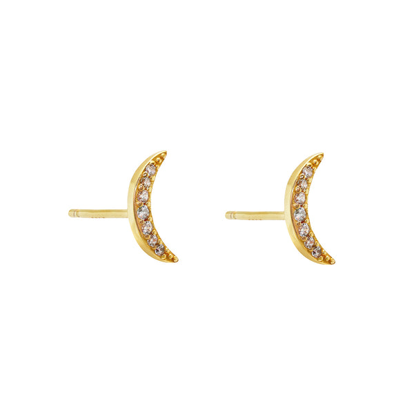 Lua crystal moon earrings