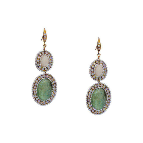 LUHA SEMI PRECIOUS STONES EARRINGS