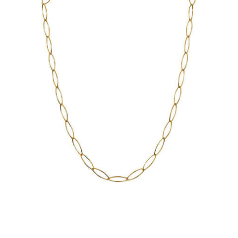 LULI PLAIN GOLD CHAIN NECKLACE