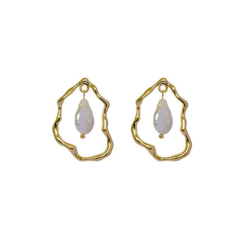 LYLA FRESH WATER PEARL GOLD EARRINGS
