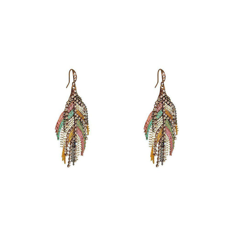 LYLE PINK MULTI-COLOURED SEMI-PRECIOUS CRYSTAL EARRINGS