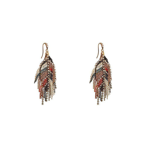 LYLE RED MULTI-COLOURED SEMI-PRECIOUS CRYSTAL EARRINGS