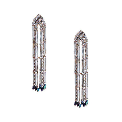 LYN CRYSTAL DROP WHITE EARRINGS