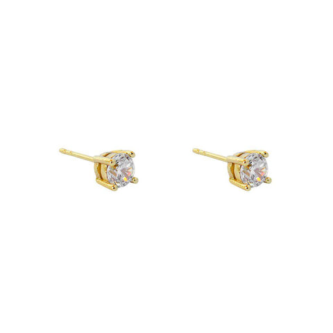 MABEL 5MM CRYSTAL GOLD BASE STUDS