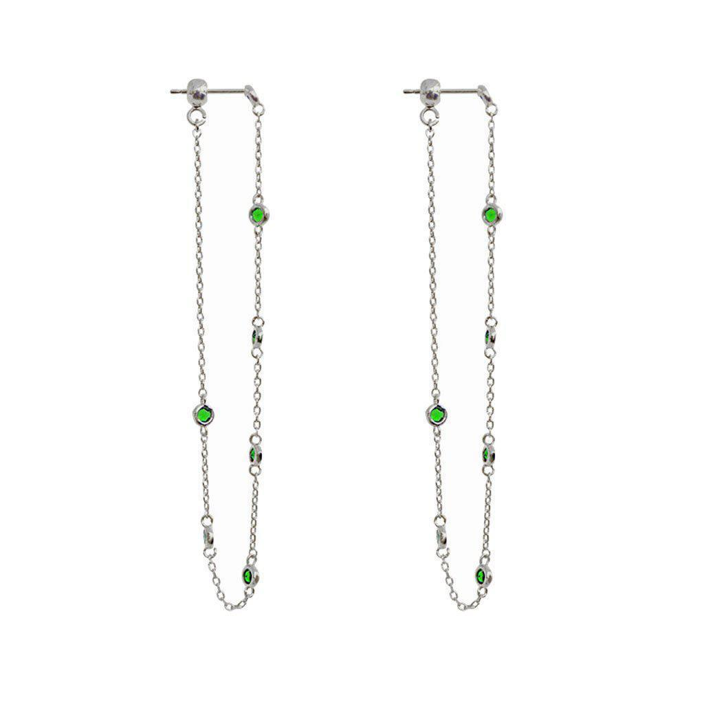 MACY CRYSTAL DROP THREAD EARRINGS