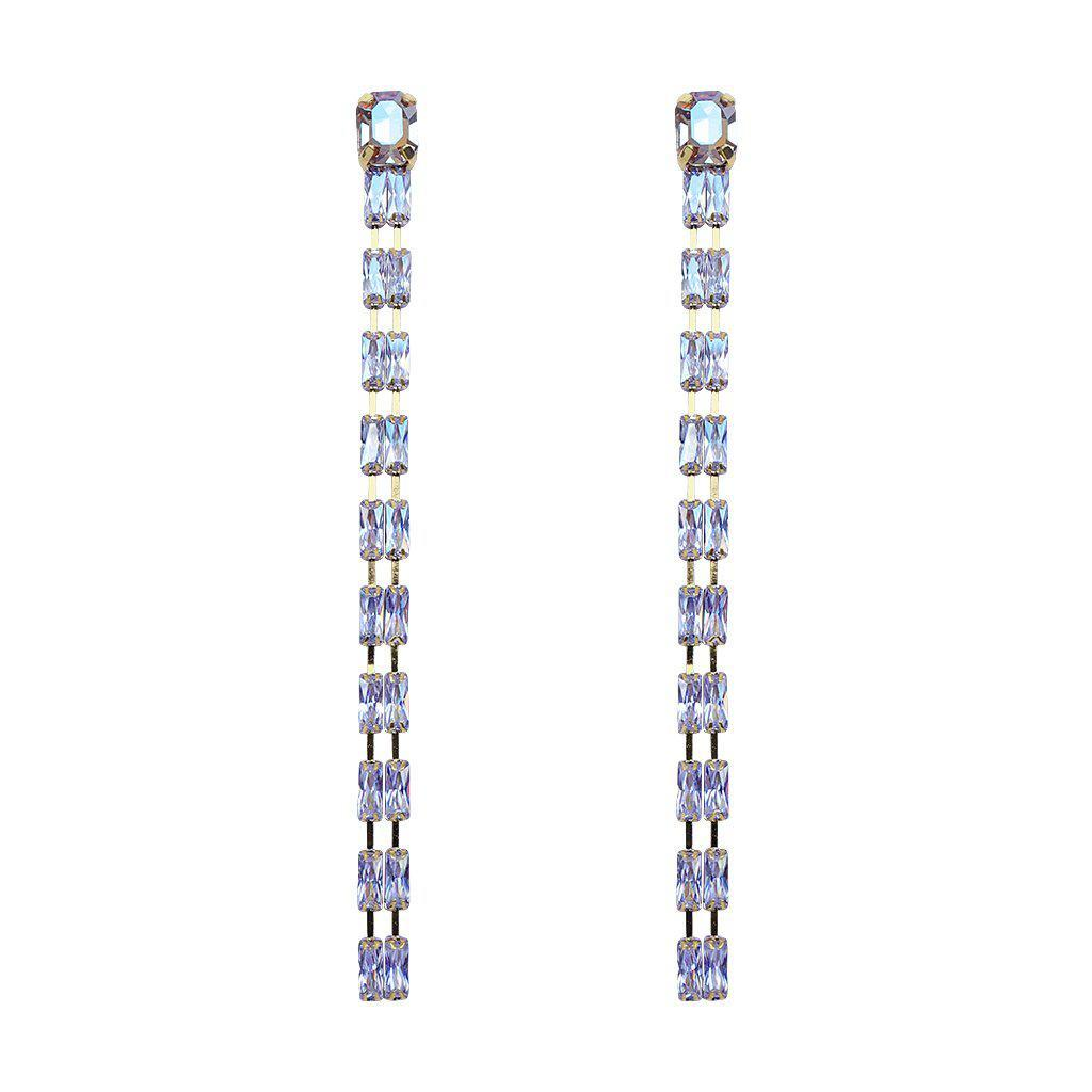 MADHAVI GOLD CRYSTAL EARRINGS