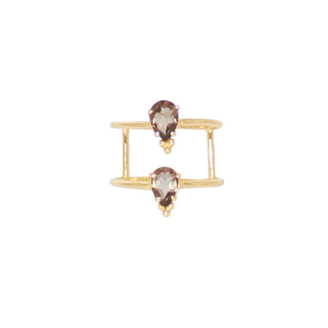 MADRA SMOKEY QUARTZ GF RING-Rings-MEZI