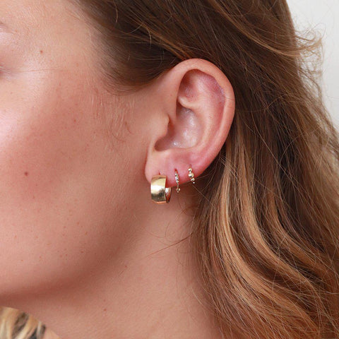 SAMMY PLAIN BOHO GOLD SLEEPER EARRING