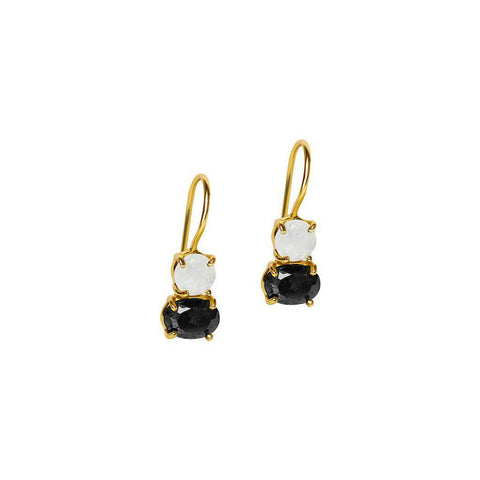 MARIS SEMI PRECIOUS GOLD STONE EARRINGS