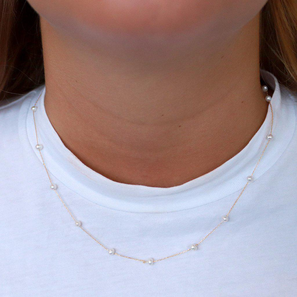 MELINA FRESHWATER PEARL GOLD NECKLACE