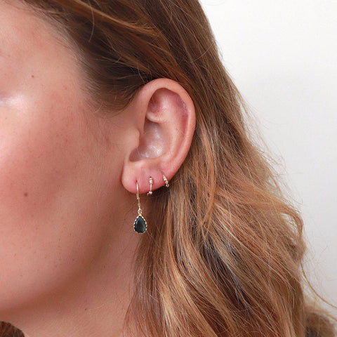 MIA LABRADORITE SEMI-PRECIOUS GOLD EARRINGS