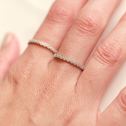 MILA STERLING SILVER CRYSTAL RING