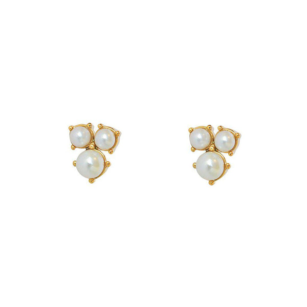 MORGAN PEARL GOLD PLATED STUDS