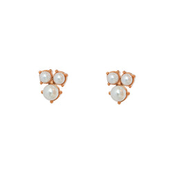 MORGAN PEARL ROSE GOLD PLATED STUDS