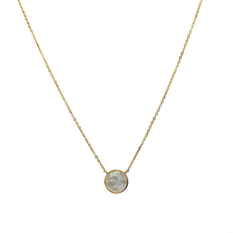 MOTHER PEARL PENDANT GOLD NECKLACE