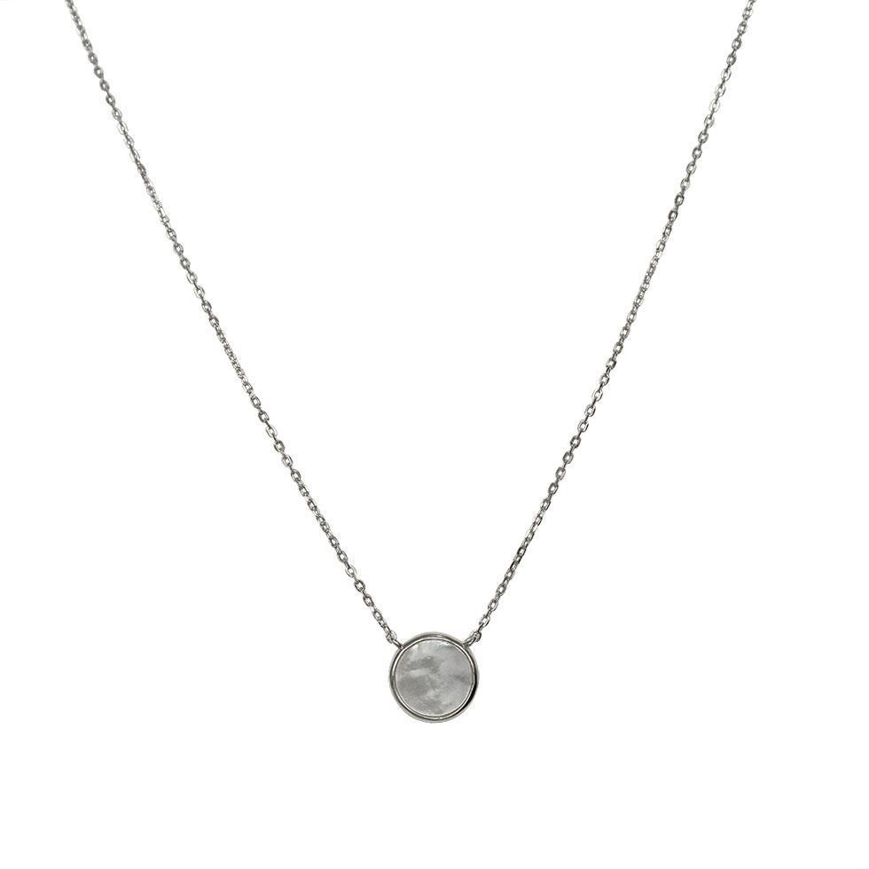MOTHER PEARL PENDANT SILVER NECKLACE