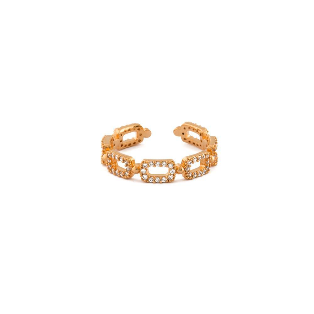 MYA ROSE GOLD CRYSTAL RING