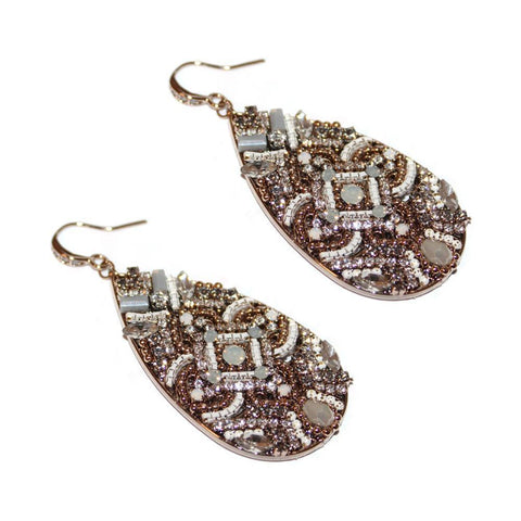 NAIRI NEUTRAL SEMI-PRECIOUS CRYSTAL EARRINGS