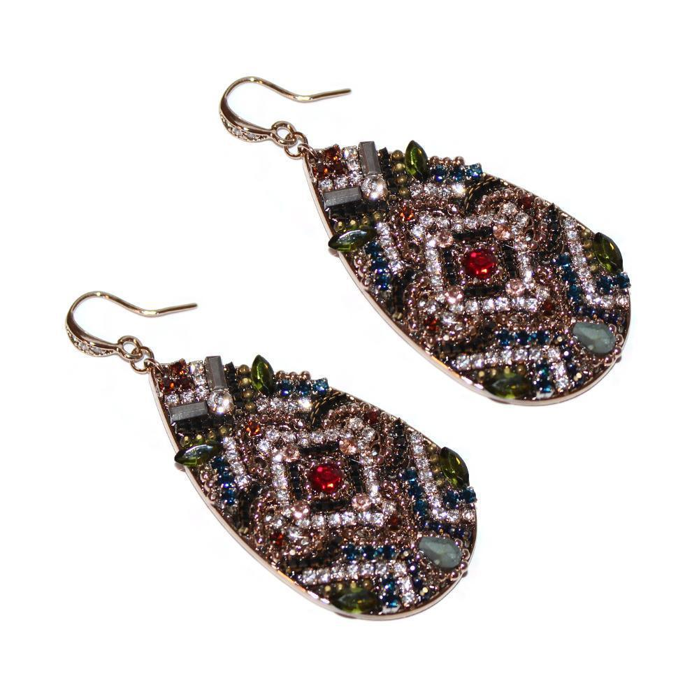 NAIRI SEMI-PRECIOUS CRYSTAL EARRINGS