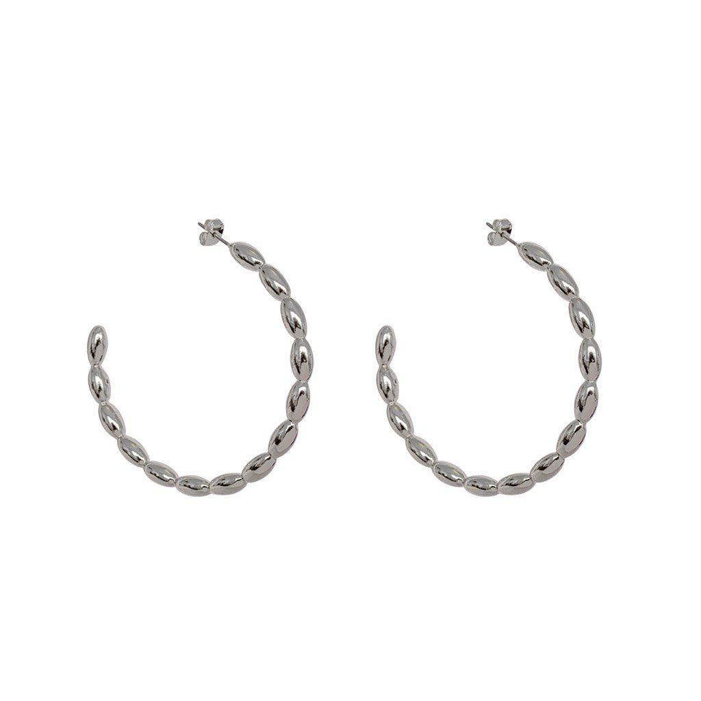 NAOMI SILVER DETAILED FASHION HOOP EARRINGS