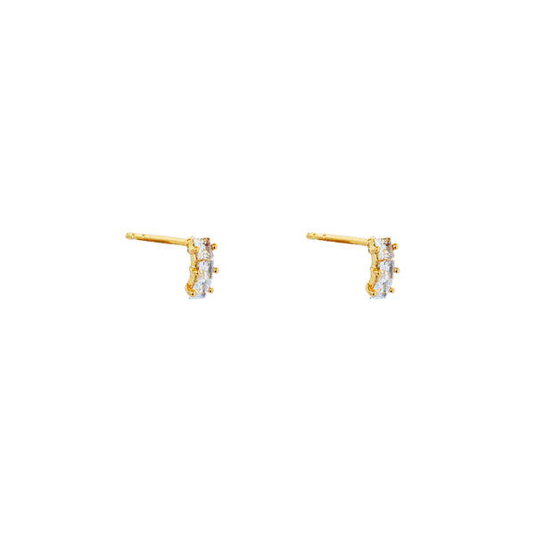 NATALI GOLD CRYSTAL DROP EARRINGS