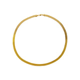 DELMA GOLD HERRINGBONE CHAIN 6MM NECKLACE