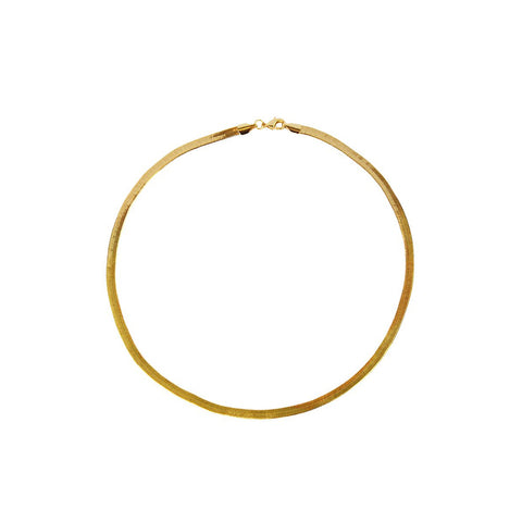 DELMA GOLD HERRINGBONE CHAIN 4MM NECKLACE