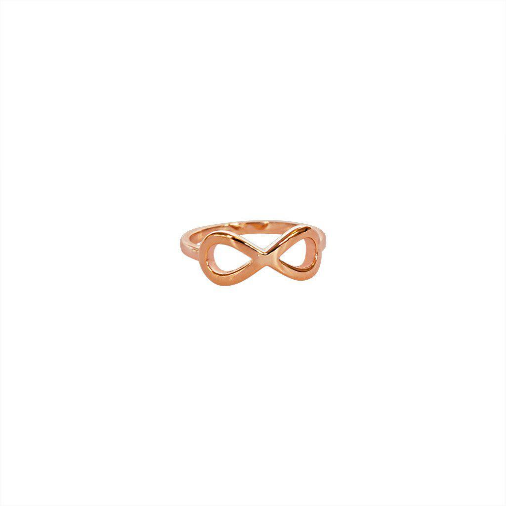 INFINITY PLAIN ROSE GOLD RING