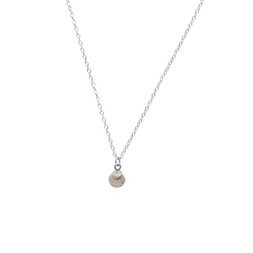 SMALL OYSTER SHELL STERLING SILVER PENDANT