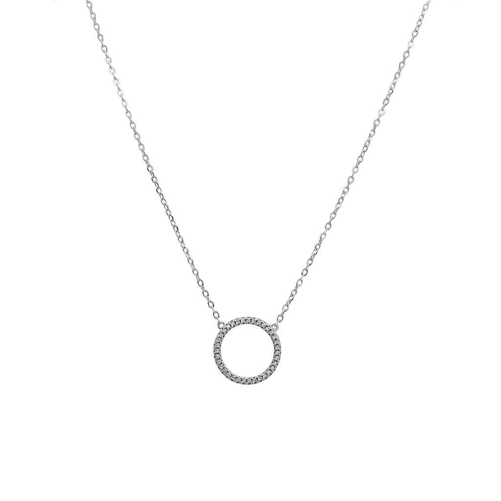 PAIDI CRYSTAL STERLING SILVER O PENDANT