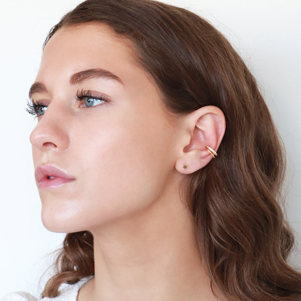 PATRIA DOUBLE CUFF GOLD EARRING