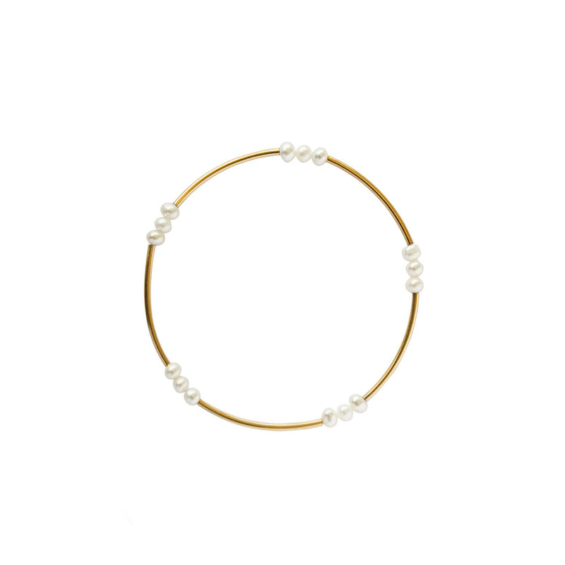 ALYX FRESHWATER PEARL 1 MICRON GOLD BRACELET